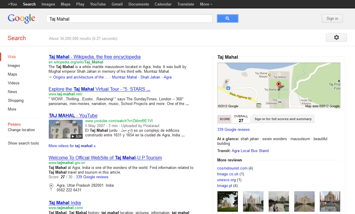 Test di Google Knowledge Graph in Italia Immagine 5 di 5