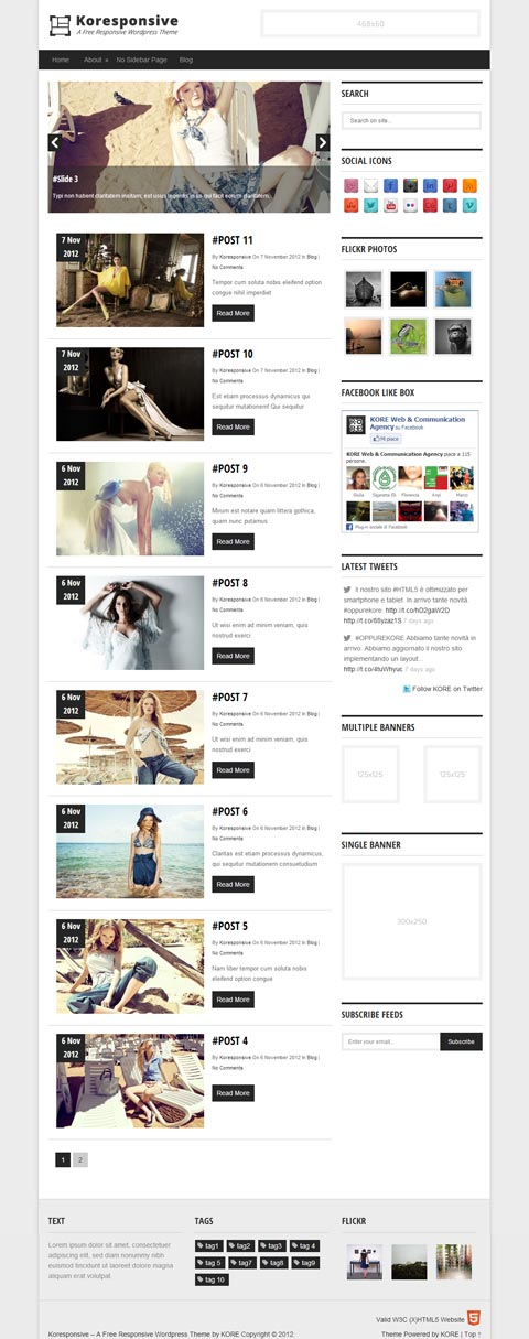Kore Free Resources - Free Wp Templates