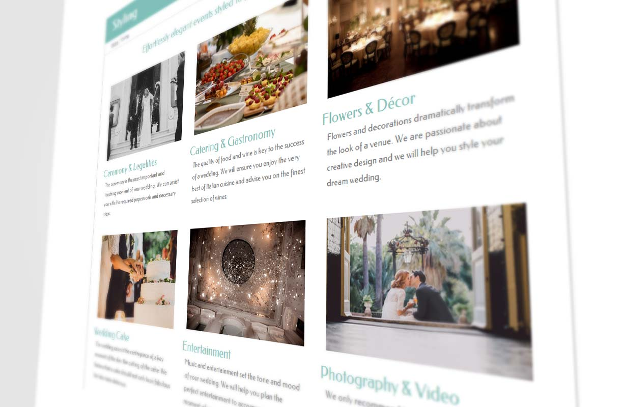 Italian Wedding Planner Website